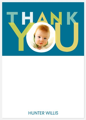 Big Blue Thank You Cards