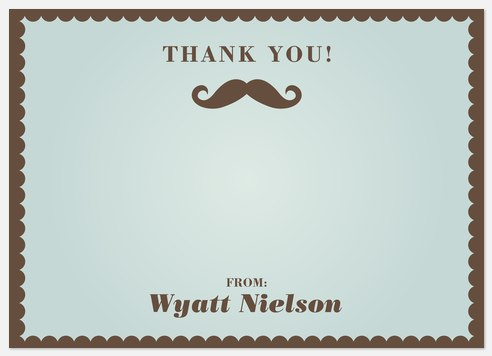 Little Man Thank You Cards