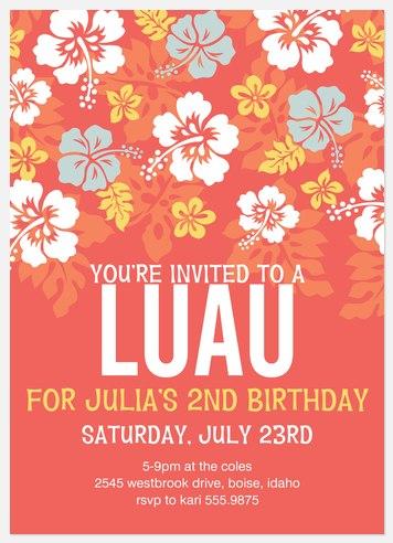 Luau Love Kids' Birthday Invitations