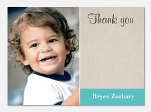 Sticker Blue - Kids Thank You Cards
