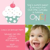 Girl Birthday Party Invitations - Lil' Cake