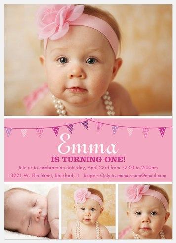 Lil Pink One Kids' Birthday Invitations