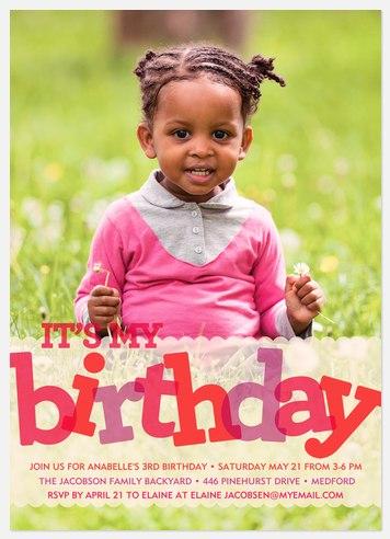 Big Birthday Kids' Birthday Invitations