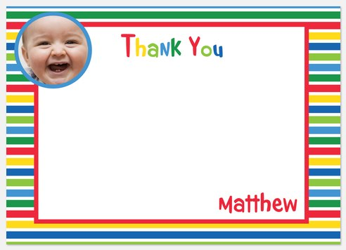Crayon Colors Thank You Cards