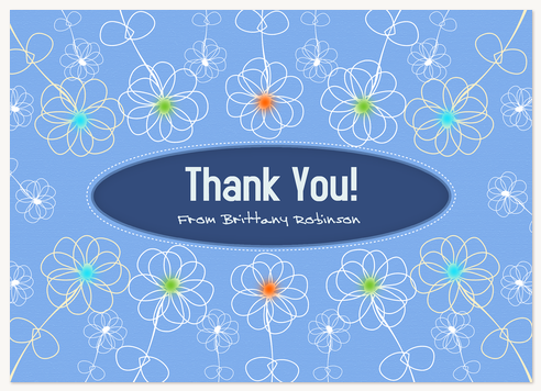 Thank You Cards for Women, Daisy Doodle Design