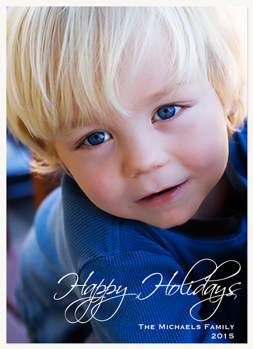 Personalized Holiday Cards, Sweet Holiday Weave Design