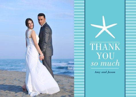 Thank You Cards , Sea Star Thanks Design