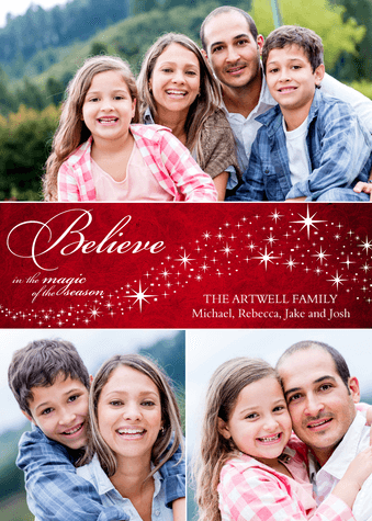 Personalized Holiday Cards, Just Believe Design