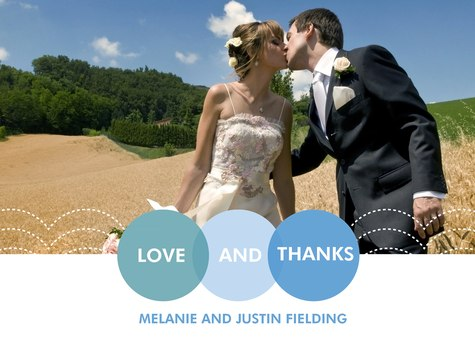 Wedding Thank You Cards, Encircled Date Design