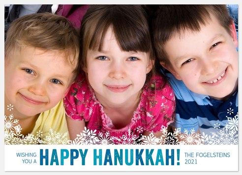 Hanukkah Snow Hanukkah Photo Cards