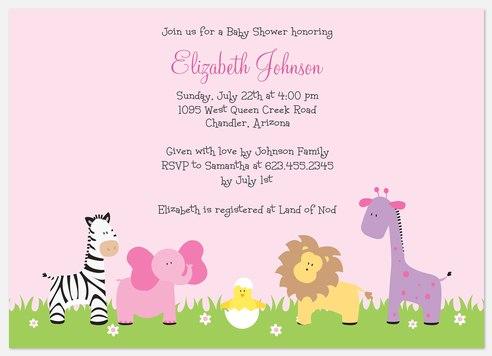 Jungle Mama Pink Baby Shower Invitations