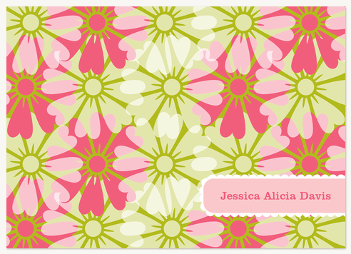 Thank You Cards for Women, Floral Fantasia Design