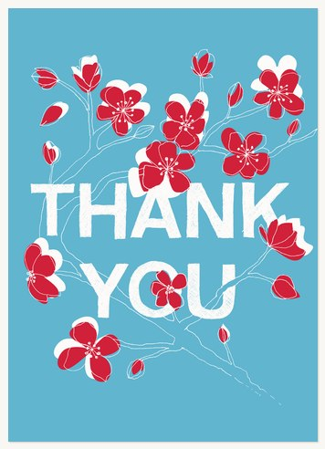 Thank You Cards , Cherry Vine Design