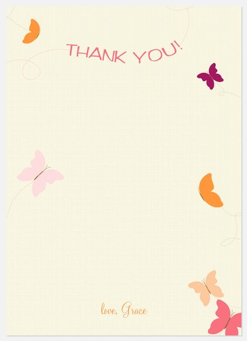 Flutter Power Thank You Cards