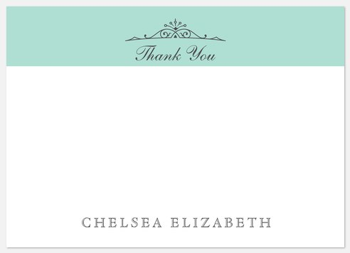 Chic Blue Thank You Cards
