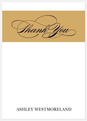 Box Square Thank You Cards