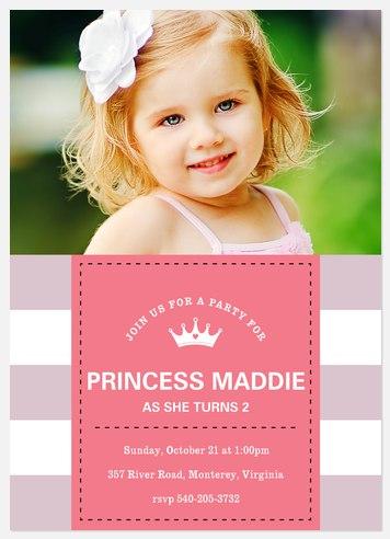 Party Princess Kids' Birthday Invitations