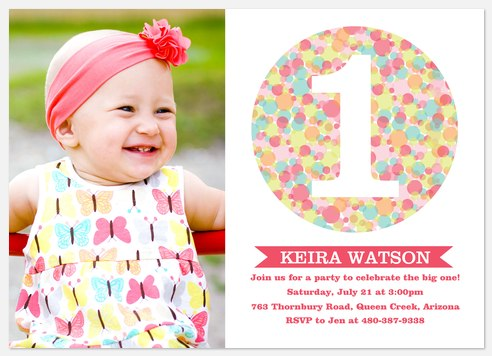 Candy Cool Pink Kids' Birthday Invitations