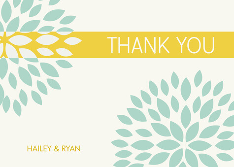 Thank You Cards , Petal Stencil Design