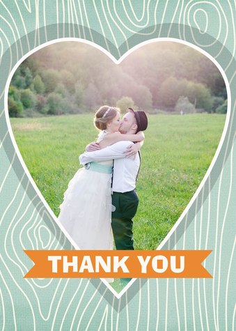 Thank You Cards , Woodland Heart Design