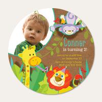 Boy Birthday Party Invitations - Jungle Jam