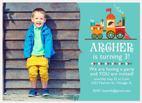 All Aboard Kids' Birthday Invitations