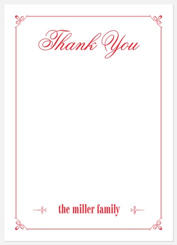 Noel Baby Thank You Cards