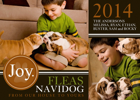 Personalized Holiday Cards, Best Buds Design
