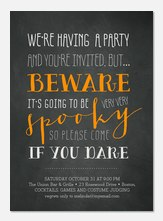 Halloween Dare - Halloween Party Invitations