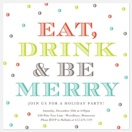 Holiday Party - Photo Invitations