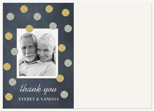 Thank You Cards , Silver & Gold Design