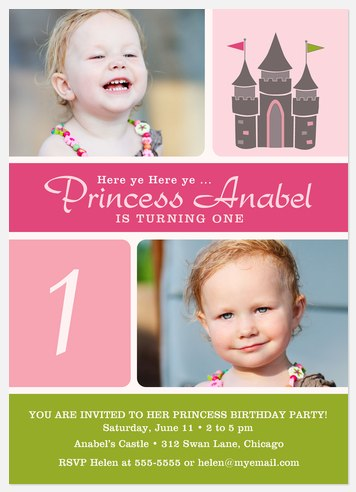 Her Lil Castle Kids' Birthday Invitations