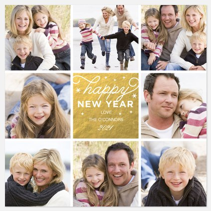 New Year's Roundabout Holiday Photo Cards