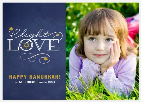 Celebrate light Hanukkah Photo Cards