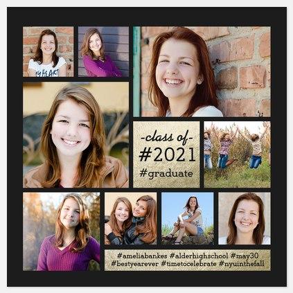 Hashtag Grad Graduation Cards