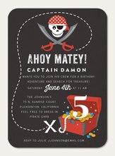 Photo Boy Birthday Invitations - Pirate Treasure
