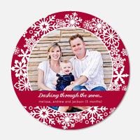 Baby Holiday Cards - Festive Snow