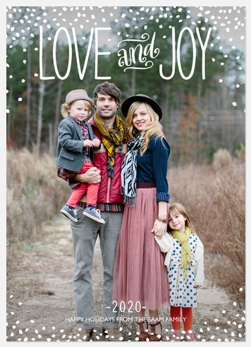 Sprinkled Joy Holiday Photo Cards