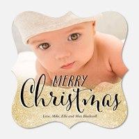 Baby Christmas Cards - Glittering Christmas