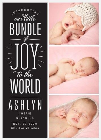 Bundle of Joy Holiday Photo Cards