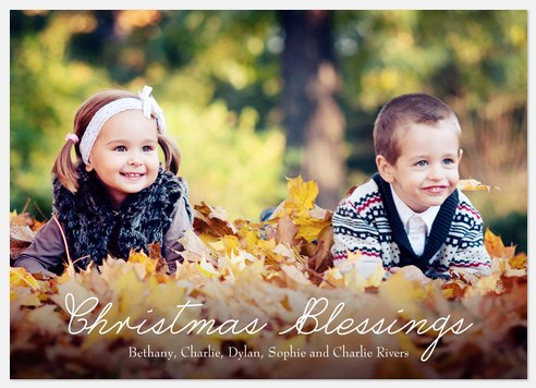 Simple Blessings Holiday Photo Cards