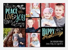 photo Christmas cards - Messages of Joy