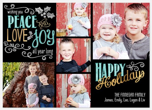 Messages of Joy Holiday Photo Cards