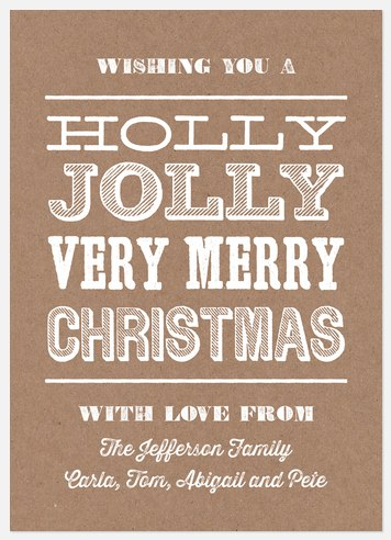 Woodcut Christmas Holiday Photo Cards