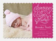 Holiday Birth Announcements - Sugar Plum Dreams