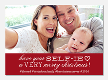 Have Your Selfie -  Baby Holiday Cards