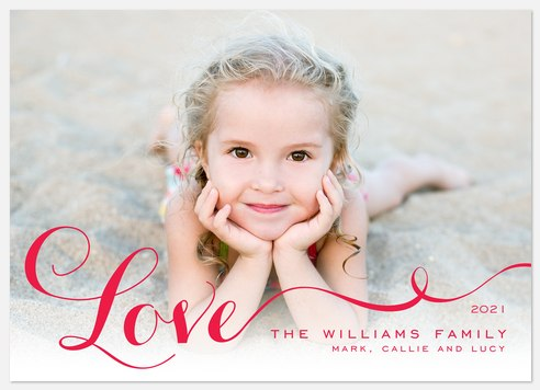 Love Ribbon Valentine Photo Cards