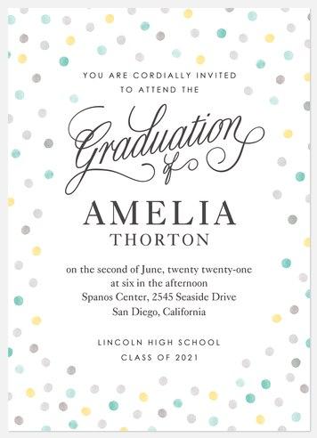 Watercolor Confetti Graduation Cards