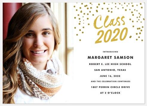 Classy Cascade Graduation Cards