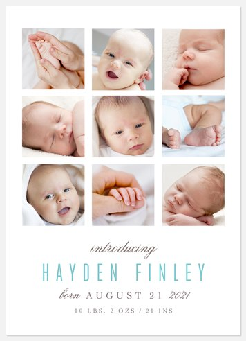 Cherished Moment Baby Birth Announcements